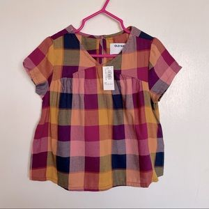 Old Navy Plaid Toddler Top - Size 2T